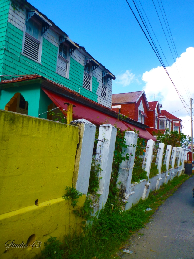 Colorful buildings, Port Antonio