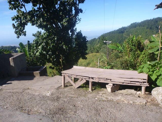 Bench with a view of the valley
